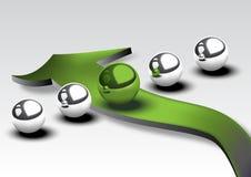 Verde de la esfera Fotos de archivo