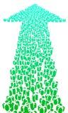 Verde de la flecha del regalo Imágenes de archivo libres de regalías
