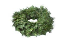Verde de la guirnalda del advenimiento no adornado Imagen de archivo libre de regalías