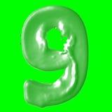 Verde de la leche del número 9 Fotografía de archivo libre de regalías