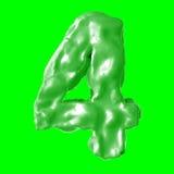 Verde de la leche del número 4 Imagen de archivo libre de regalías