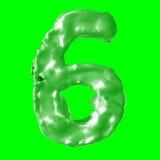 Verde de la leche del número 6 Imagenes de archivo