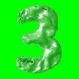 Verde de la leche del número 3 Fotos de archivo libres de regalías