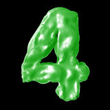 Verde de la leche del número 4 Imágenes de archivo libres de regalías