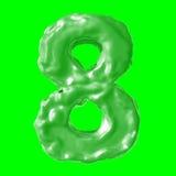 Verde de la leche del número 8 Imagen de archivo libre de regalías