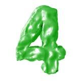 Verde de la leche del número 4 Imagenes de archivo