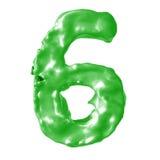 Verde de la leche del número 6 Foto de archivo libre de regalías