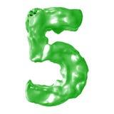 Verde de la leche del número 5 Imagen de archivo libre de regalías