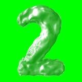 Verde de la leche del número 2 Imagen de archivo libre de regalías