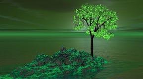 Verde de la montaña ilustración del vector