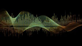 Verde de la onda de la música ilustración del vector