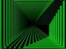 Verde de la perspectiva Foto de archivo libre de regalías
