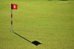 Verde de la práctica del campo de golf Fotos de archivo libres de regalías