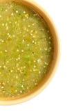 Verde de la salsa de Tomatillo, cocina mexicana Imagen de archivo libre de regalías