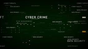 Verde de la seguridad de datos de las palabras claves ilustración del vector