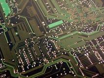 Verde de la tarjeta de circuitos de ordenador Fotografía de archivo libre de regalías