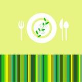 Verde de la tarjeta del menú Foto de archivo