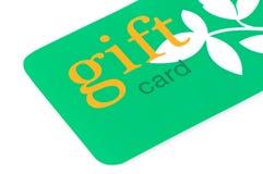 Verde de la tarjeta del regalo Imagenes de archivo