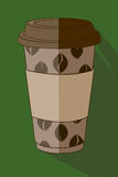 Verde de la taza de café imagenes de archivo