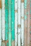 Verde de la vendimia pintado de madera Imagen de archivo libre de regalías