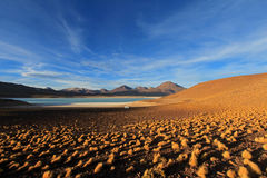 Verde de Laguna, lagune verte en Bolivie Photo libre de droits