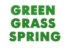 Verde de las palabras, hierba, resorte Fotos de archivo libres de regalías