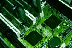 Verde de los componentes de la PC foto de archivo libre de regalías