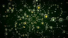 Verde de los datos de la red de la gente stock de ilustración