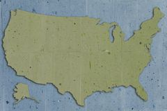 Verde de los E.E.U.U. de la piedra ilustración del vector