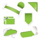 Verde de los elementos de la venta del departamento Imagen de archivo