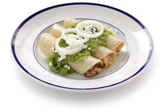 Verde de los enchiladas del pollo Imagen de archivo