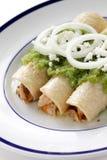 Verde de los enchiladas del pollo Imagenes de archivo
