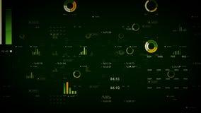 Verde de los gráficos y de los datos de negocio libre illustration