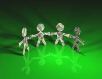 Verde de los hombres del dinero Imágenes de archivo libres de regalías
