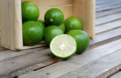 Verde de los limones Imágenes de archivo libres de regalías
