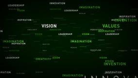 Verde de los principios de negocio de las palabras claves ilustración del vector