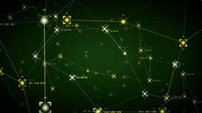 Verde de los puntos de referencias de la red ilustración del vector