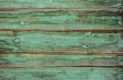 Verde de madera de los tablones Imágenes de archivo libres de regalías