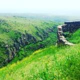 Verde de montañas armenias Foto de archivo