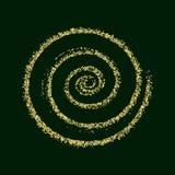 Verde de oro de la textura de la Navidad del extracto del vector del círculo del brillo del oro Imagen de archivo libre de regalías