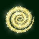 Verde de oro de la textura de la Navidad del extracto del vector del círculo del brillo del oro Foto de archivo libre de regalías