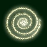 Verde de oro de la textura de la Navidad del extracto del vector del círculo del brillo del oro Foto de archivo
