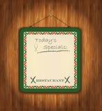 Verde de papel de madera de la pizarra Foto de archivo libre de regalías