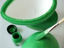 Verde de pintura Imagem de Stock Royalty Free
