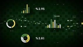 verde de seguimiento de los datos de negocio 4K ilustración del vector
