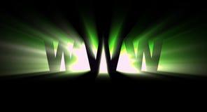 Verde de WWW ilustración del vector