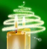 Verde de Xmass - fondo de la Navidad Imagen de archivo libre de regalías