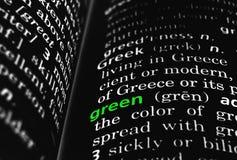 Verde definito sul nero Immagini Stock