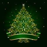 Verde del árbol de navidad Fotos de archivo