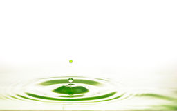 Verde del agua del descenso Foto de archivo libre de regalías